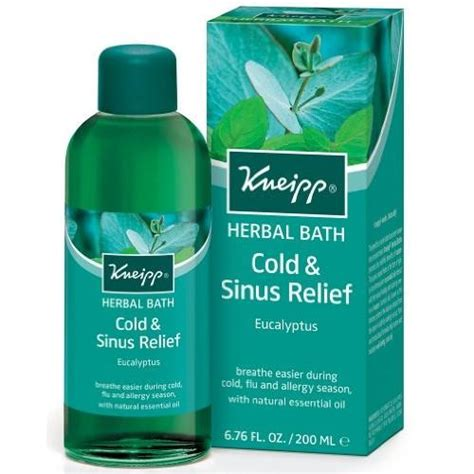 Detox Bath For Sinus Infection by Kneipp Herbal Bath With Essential Oils Eucalyptus