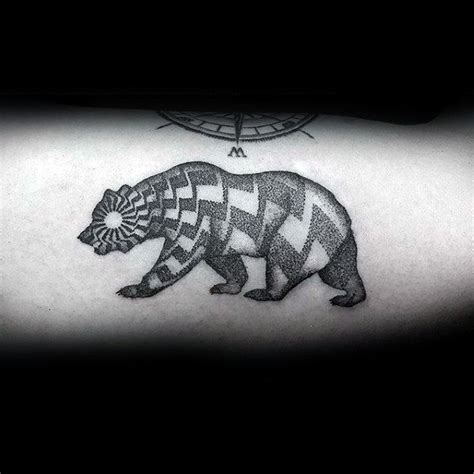 pattern bear tattoo 80 california bear tattoo designs for men grizzly ink ideas