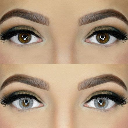 colored contacts for before and after before and after brown solotica hidrocor colored
