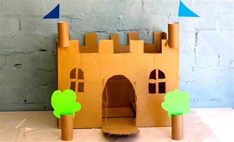 How To Make A Paper Castle Easy - how to make your own cardboard play castle