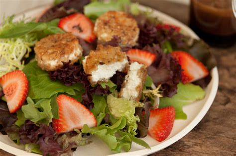 goat cheese salad fried goat cheese salad