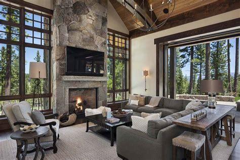 gorgeous rustic mountain retreat  stylish interiors