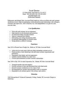 Retail Store Associate Resume by Retail Sales Associate Resume Ingyenoltoztetosjatekok