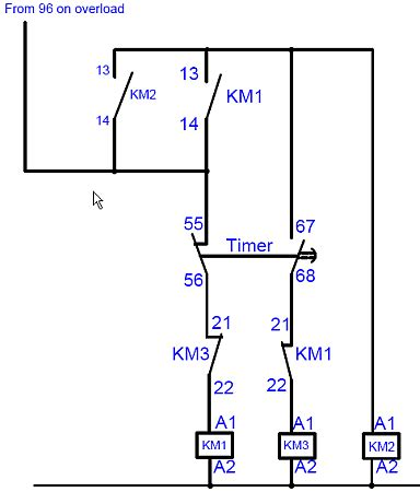 how do i operate a delta starter with 2 wire