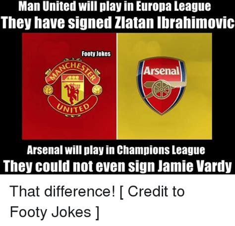 arsenal jokes manchester united vs fenerbahce europa league 4 1 on