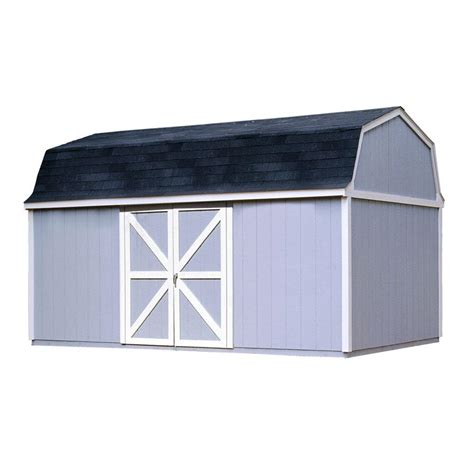 diy shed kit home depot handy home products berkley 10 ft x 14 ft wood storage
