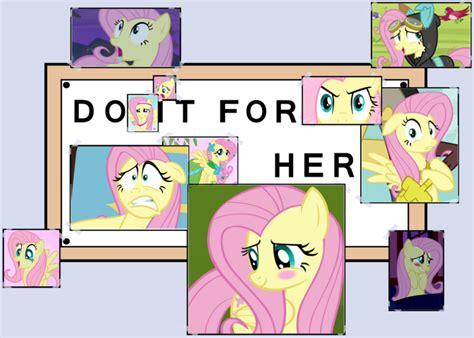 Do It For Her Meme - 520447 do it for her edit fluttershy meme safe the