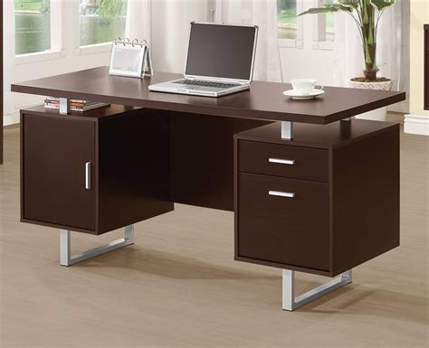 coaster company cappuccino writing desk coaster glavan office desk cappuccino silver 801521 at