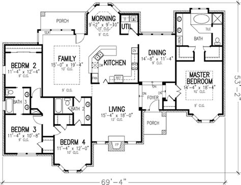 single floor house plans single story 19187gt 1st floor master suite