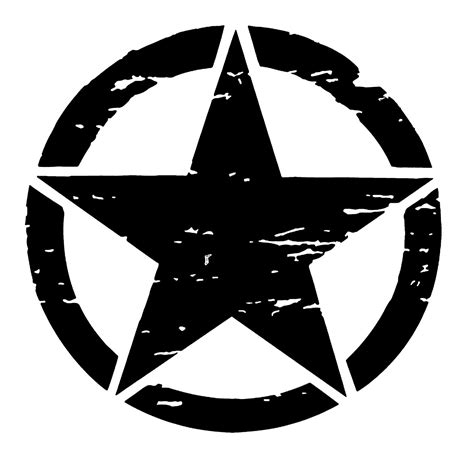 black military jeep army jeep star logo military distressed clipart free
