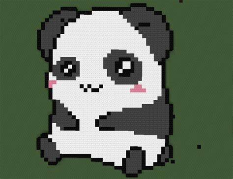 minecraft pixel art templates panda pictures to pin on