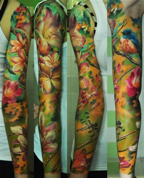 watercolor tattoo sleeve 17 incredibly realistic tattoos artists