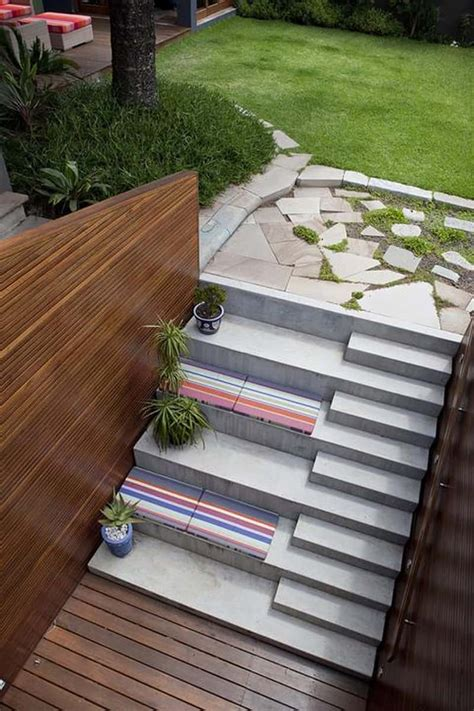 Patio Steps Design 40 Ideas Of How To Design Exterior Stairways
