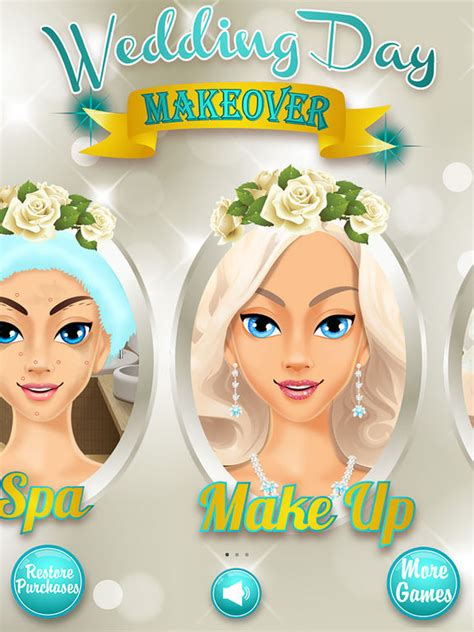 wedding day makeover makeup dressup game on
