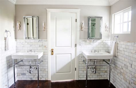 marble and subway tile bathroom marble subway tile bathroom contemporary with glass shower