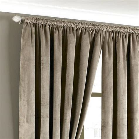 taupe velvet curtains riva home imperial velvet woven pencil pleat lined curtains