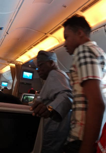 emirates ghana nigerians boo obasanjo on emirates flight