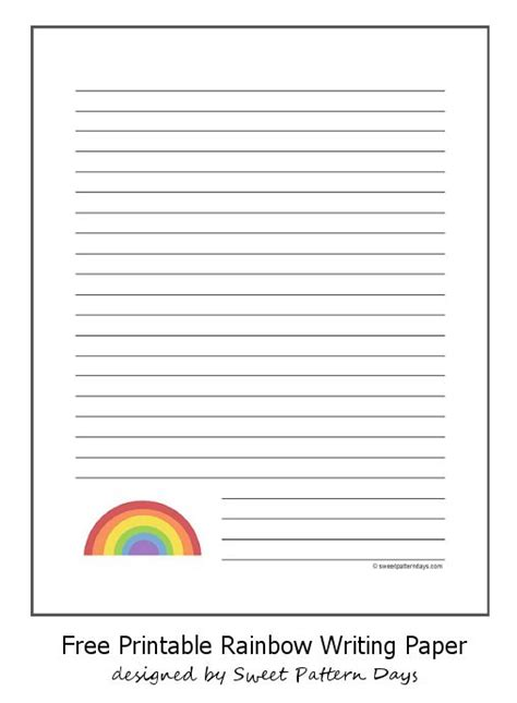 rainbow writing paper 128 best images about stationery printables on