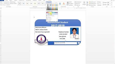 id card design word how to make id card design in ms word urdu tutorial youtube
