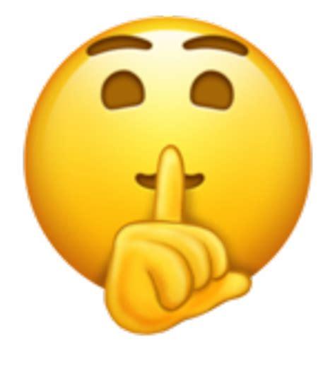 transparent background shh emoji png  emojis