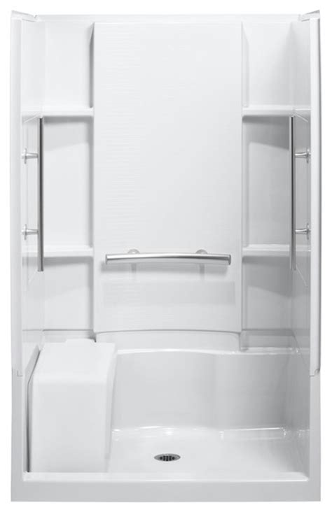 sterling accord 36 quot x48 quot x74 5 quot vikrell alcove shower kit