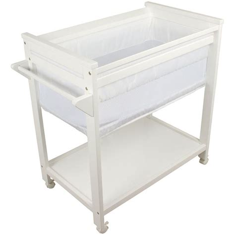 bebe care wooden baby bassinet crib in white buy baby