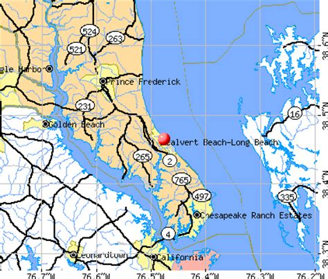 maryland map beaches calvert maryland md 20685 profile