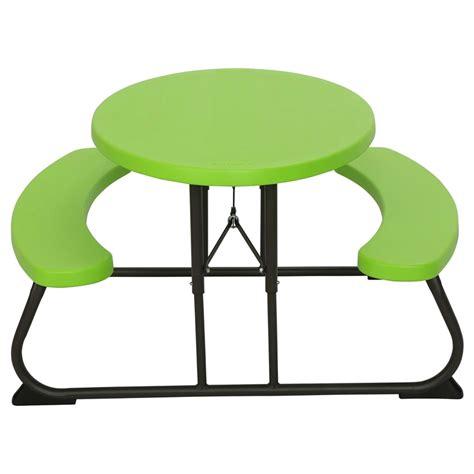 lifetime children s picnic table lifetime children s oval picnic table lime green 34x25