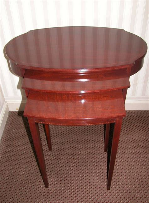 Mersman Furniture by Early 20th Century Mahogany Nest Of Three Tables By