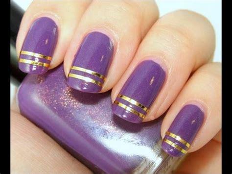 imagenes de uñas acrilicas moradas decoraciones de u 241 as moradas manicura youtube