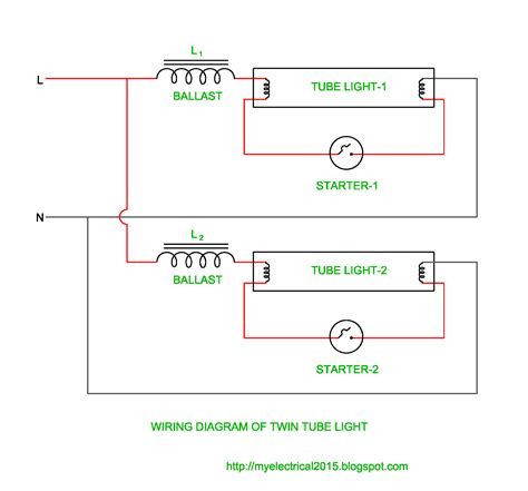 fluorescent light wiring diagram light