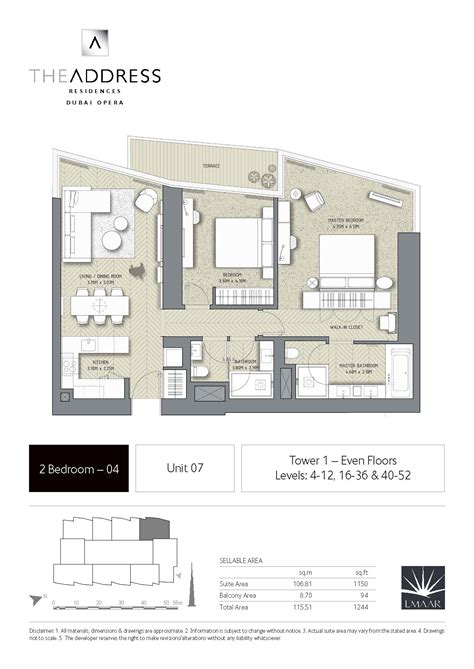 floor plans by address the address residence dubai opera tower 1 floor plans