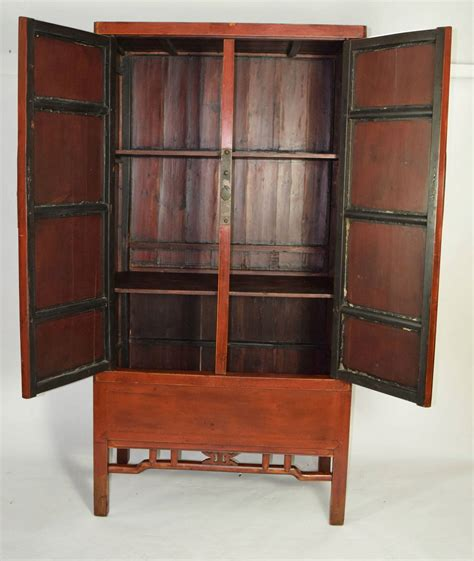 antique chinese armoire chinese red armoire wedding cabinet for sale at 1stdibs
