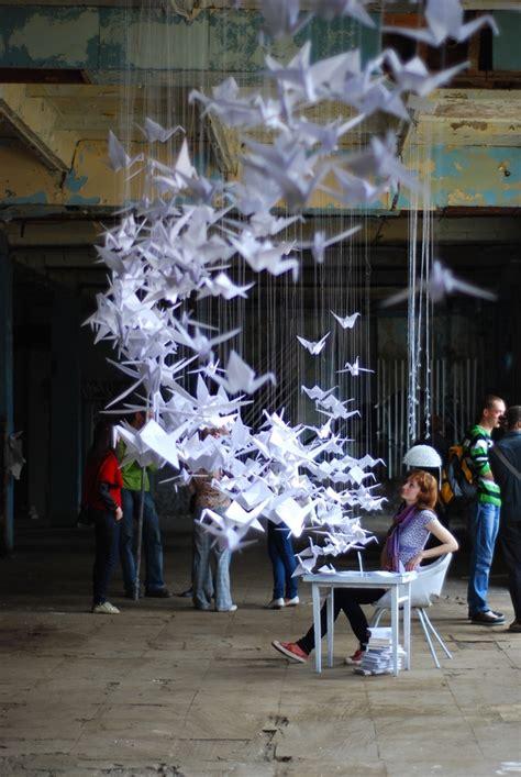 Origami Installation - ideas generator installation on behance