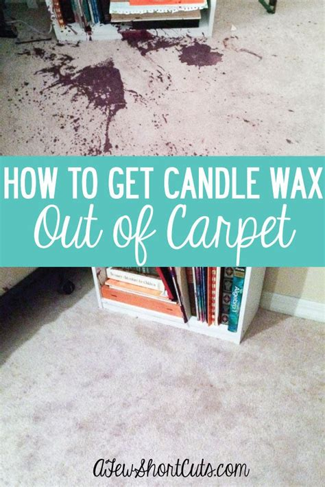 how to get wax out of a candle how to get candle wax out of carpet a few shortcuts