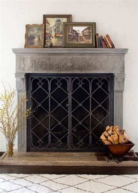 1000 ideas about rustic fireplace screens on