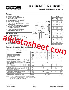 in5402 diode datasheet pdf mbr3045pt datasheet pdf diodes incorporated