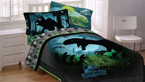 jurassic park bed set jurassic world bedding dinosaur comforter sheet set