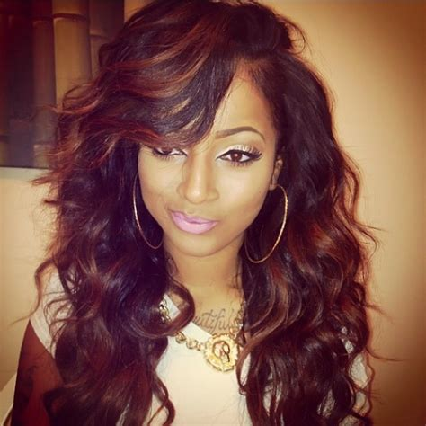 Black Hair Style Wig Weaves by Curly Weave Hairstyles With Side Bangs Jpg Quot Weave