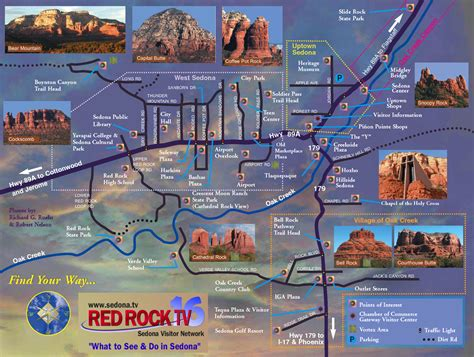 sedona az map sedona tourist map sedona arizona mappery