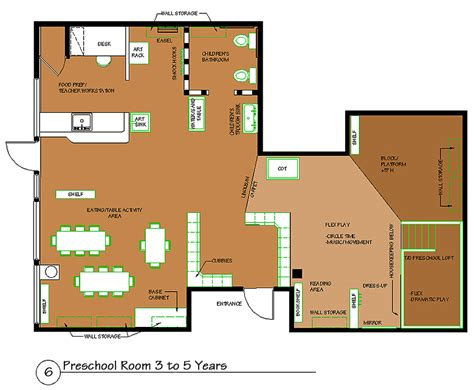 floor plan of a preschool classroom preschool room 3 to 5 years spaces