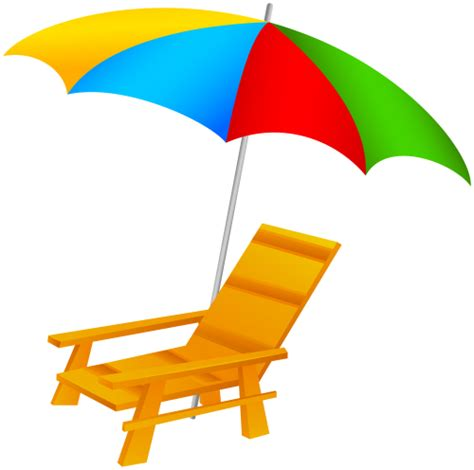 Surf The Web With The Umbrella by Umbrella And Chair Png Clip