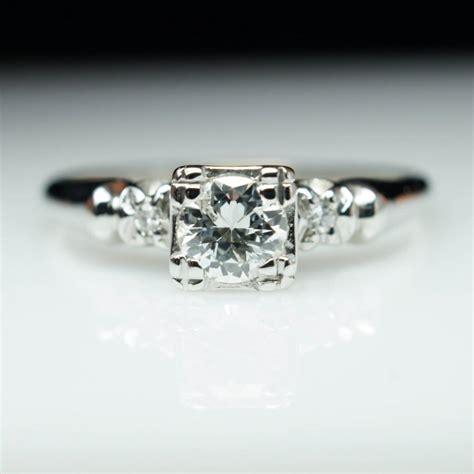 vintage european cut solitaire engagement ring