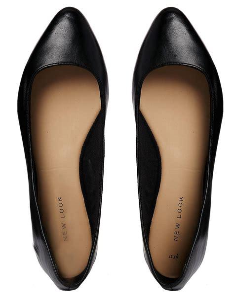new look flat shoes new look new look jar leather flat shoes at asos