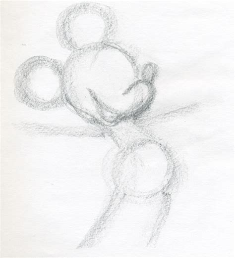 Easy Sketches Of by Draw Mickey Mouse
