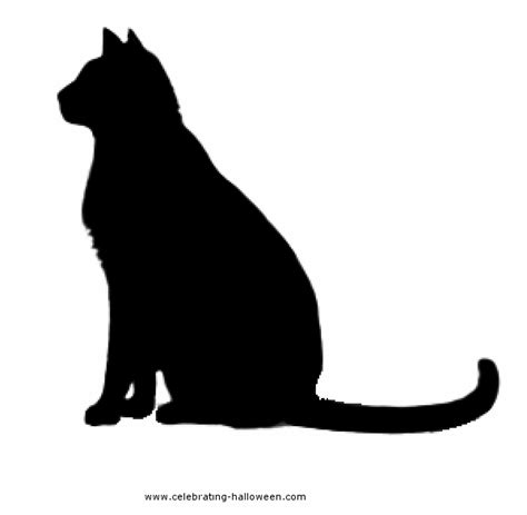 cat silhouette template free cat pumpkin carving stencils