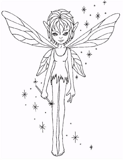 baby fairy anime colouring pages