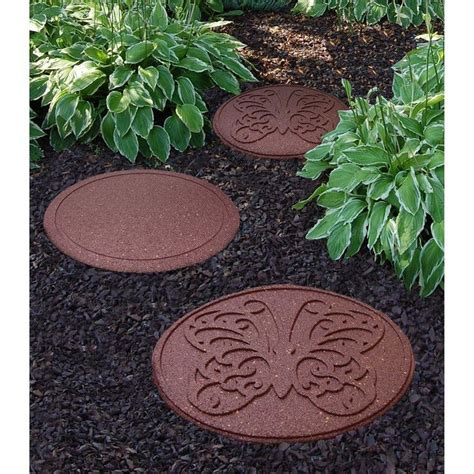 decorative stepping stones home depot envirotile 18 in x 18 in reversible butterfly terra cotta stepping stone 2 case gardens