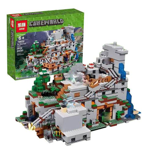 Produk Terlaris Lego Brick Compatible Lepin Minecraft The Cave 249 Pcs downtheblocks lepin 18032 minecraft the mountain cave preview