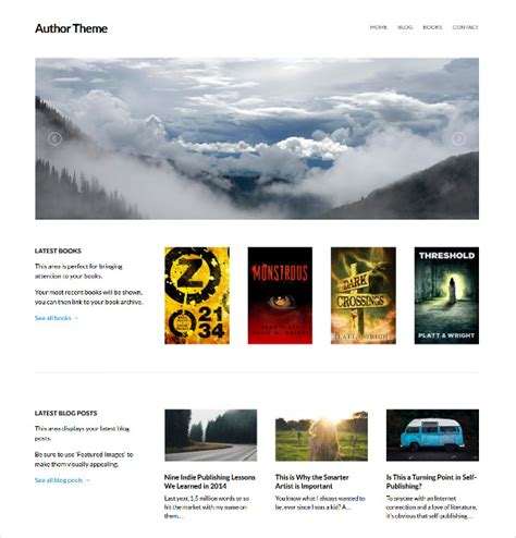wordpress templates for books 13 book publishers author wordpress themes templates